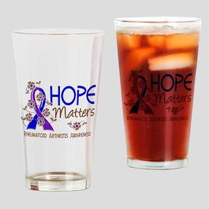 RA Hope Matters 3 Drinking Glass