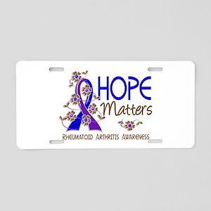 RA Hope Matters 3 Aluminum License Plate