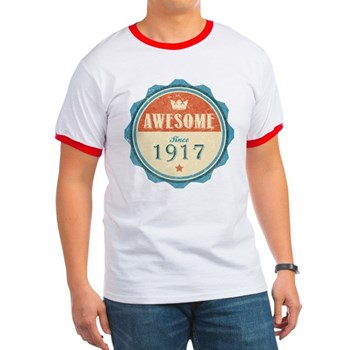 Awesome Since 1917 Ringer T-Shirt