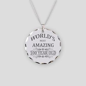 World's Most Amazing 100 Yea Necklace Circle Charm