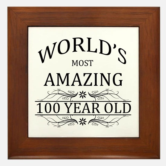 World's Most Amazing 100 Year Old Framed Tile