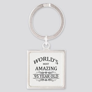 World's Most Amazing 95 Year Old Square Keychain