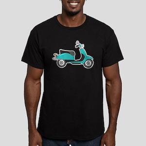 Cute Retro Scooter Blue T-Shirt