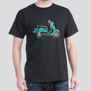 Cute Retro Scooter Blue T-Shirt