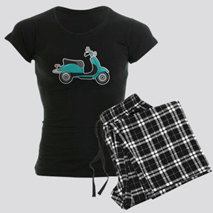 Cute Retro Scooter Blue Pajamas