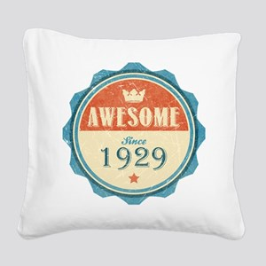 Awesome Since 1929 Square Canvas Pillow