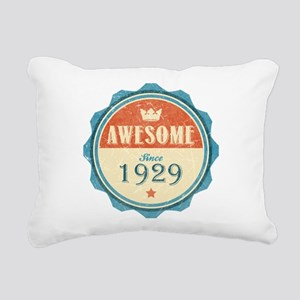 Awesome Since 1929 Rectangular Canvas Pillow