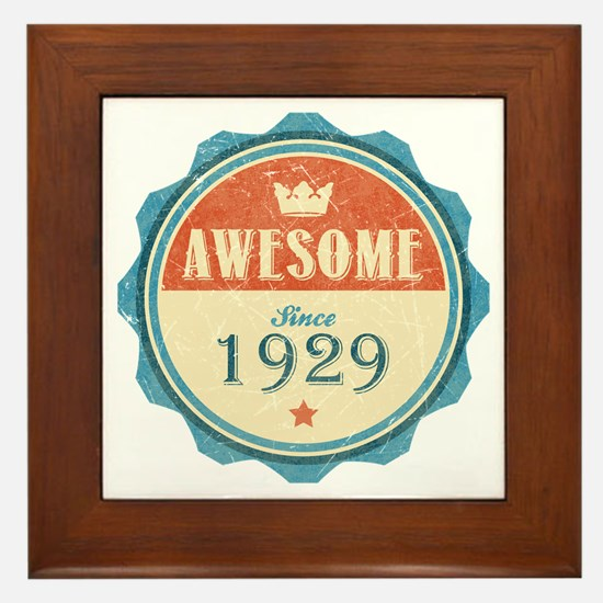 Awesome Since 1929 Framed Tile
