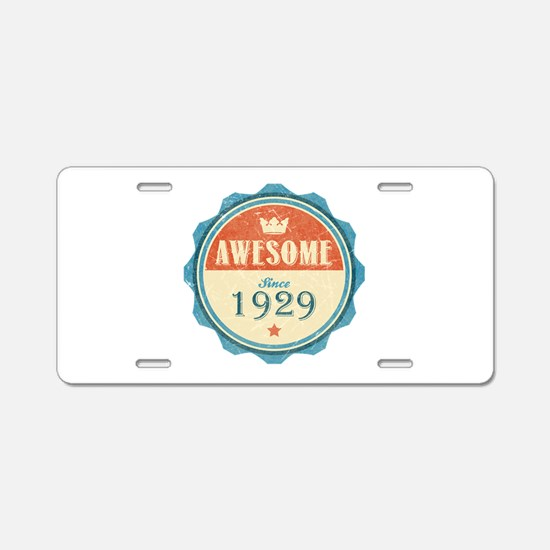 Awesome Since 1929 Aluminum License Plate