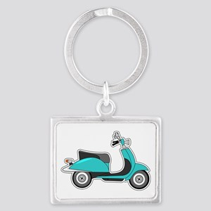 Cute Retro Scooter Blue Keychains