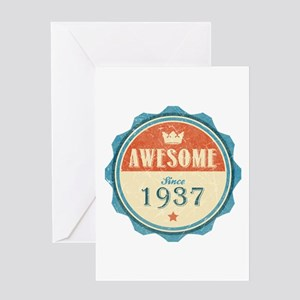 Awesome Since 1937 Greeting Card