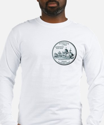 Virginia State Quarter Long Sleeve T-Shirt