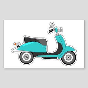 Cute Retro Scooter Blue Sticker