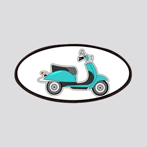 Cute Retro Scooter Blue Patches