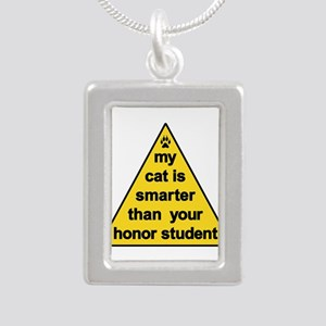 My Cat Is Smarter Than Your Honor Student Necklace