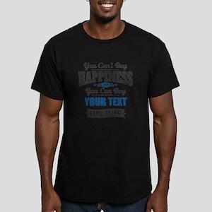 Custom Happiness Men's Fitted T-Shirt (dark)