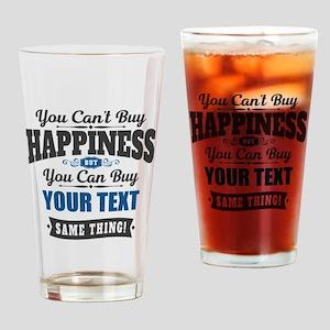 Custom Happiness Drinking Glass