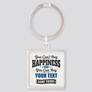 Custom Happiness Square Keychain