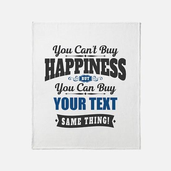 Custom Happiness Throw Blanket