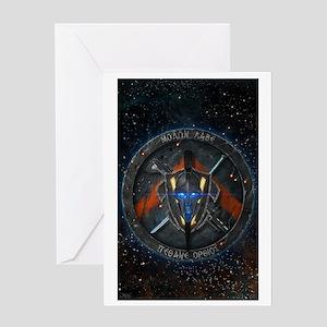 Spartan Diasporan Republic Emblem Greeting Card