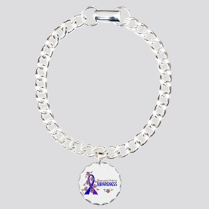 RA Awareness 6 Charm Bracelet, One Charm
