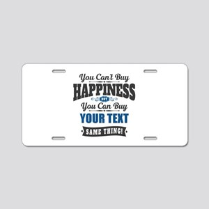 Custom Happiness Aluminum License Plate