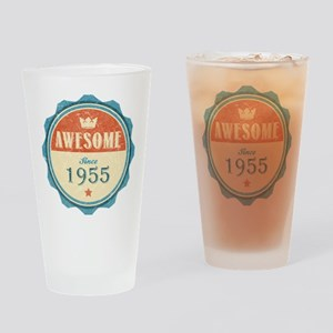 Awesome Since 1955 Drinking Glass