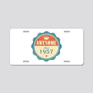 Awesome Since 1957 Aluminum License Plate