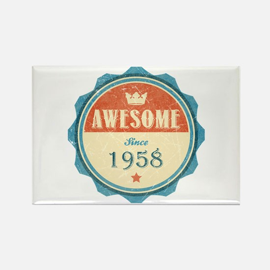 Awesome Since 1958 Rectangle Magnet