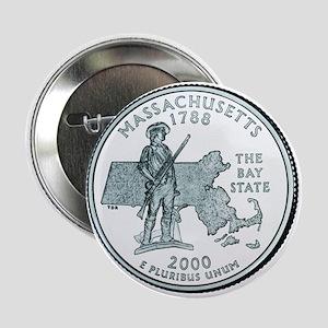 Massachusetts State Quarter Button