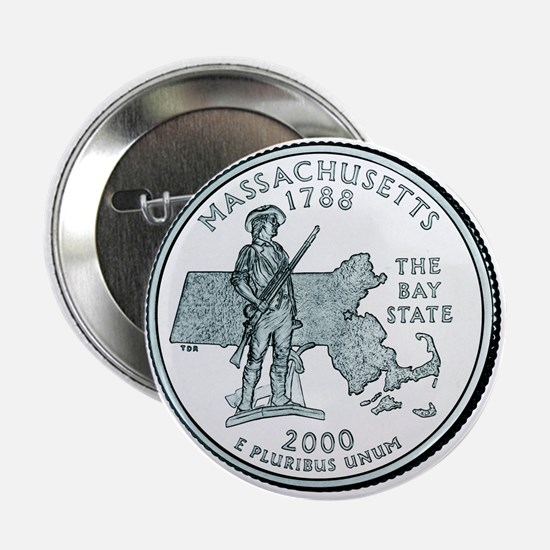 Massachusetts State Quarter Button