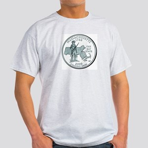 Massachusetts State Quarter Ash Grey T-Shirt
