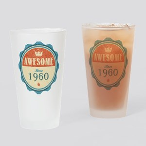 Awesome Since 1960 Drinking Glass
