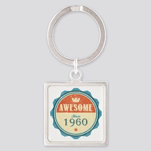 Awesome Since 1960 Square Keychain