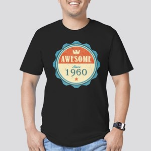 Awesome Since 1960 Men's Dark Fitted T-Shirt