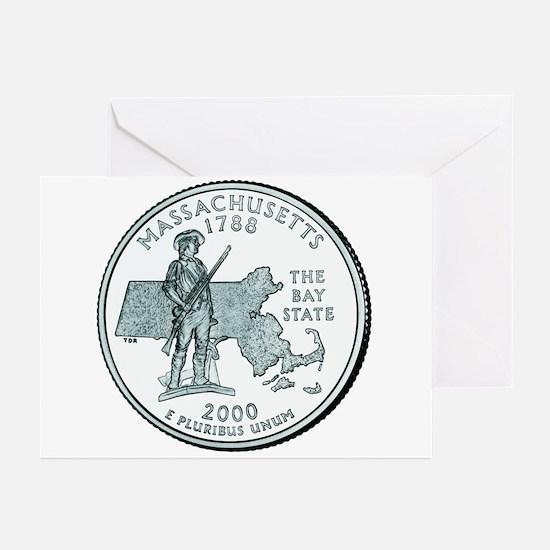 Massachusetts State Quarter Greeting Cards (6)