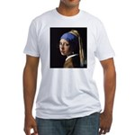 The girl with a pair of glasses Fitted T-Shirt