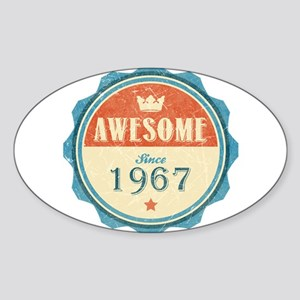 Awesome Since 1967 Oval Sticker