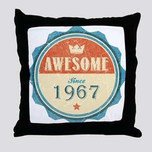 Awesome Since 1967 Throw Pillow