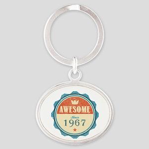 Awesome Since 1967 Oval Keychain