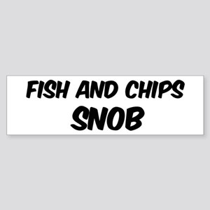 Fish And Chips Bumper Sticker