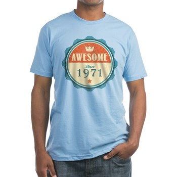 Awesome Since 1971 Fitted T-Shirt