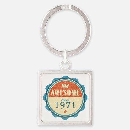 Awesome Since 1971 Square Keychain