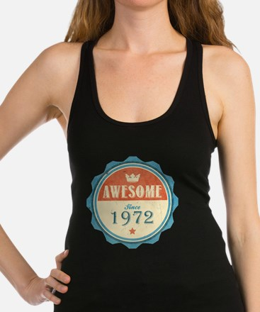 Awesome Since 1972 Dark Racerback Tank Top