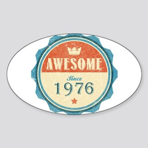 Awesome Since 1976 Oval Sticker