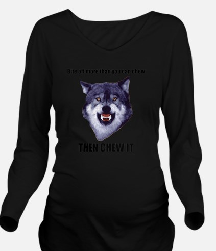 Courage Wolf Long Sleeve Maternity T-Shirt
