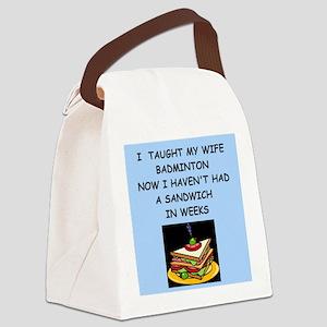 badminton Canvas Lunch Bag
