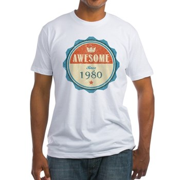Awesome Since 1980 Fitted T-Shirt