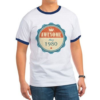 Awesome Since 1980 Ringer T-Shirt