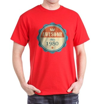 Awesome Since 1980 Dark T-Shirt